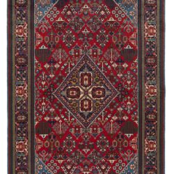 "Semi-Antique Persian Joshegan 5'1""×8'2"""