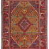 "Semi-Antique Persian Joshegan Rug 4'1""×6'8"""