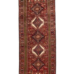 "Semi-Antique Persian Karadja 3'11""×15'0"""