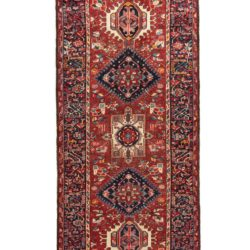"Semi-Antique Persian Karadja Runner 3'9""×11'0"""