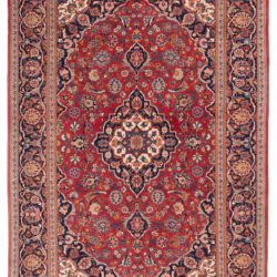 "Semi-Antique Persian Kashan Rug 4'6""×6'8"""