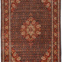 "Semi-Antique Persian Kazvin 8'8""×12'2"""