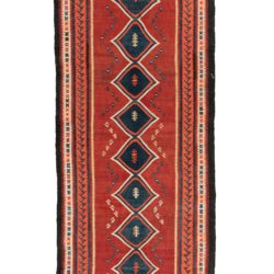 "Semi-Antique Persian Kilim 4'6""×16'4"""