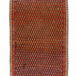"Semi-Antique Persian Kurdish Kilim 6'2""×14'4"""