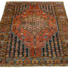 "Semi-Antique Persian Maslaghan 4'3""×6'1"""