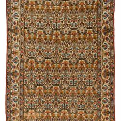 "Semi-Antique Persian Qum 4'2""×6'10"""