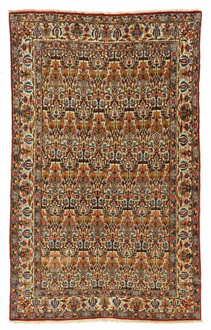 """Semi-Antique Persian Qum 4'2""""×6'10"""""""