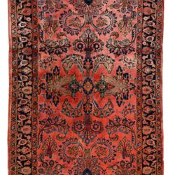 "Semi-Antique Persian Sarouk 4'2""×6'4"""