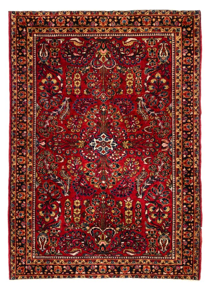 "Semi-Antique Persian Sarouk 3'4""×4'9"""