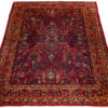 "Semi-Antique Persian Sarouk 4'3""×6'3"""