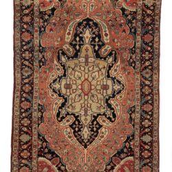 "Semi-Antique Persian Sarouk Farahan 4'4""×6'8"""