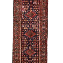"Semi-Antique Persian Serab Runner 3'7""×15'10"""
