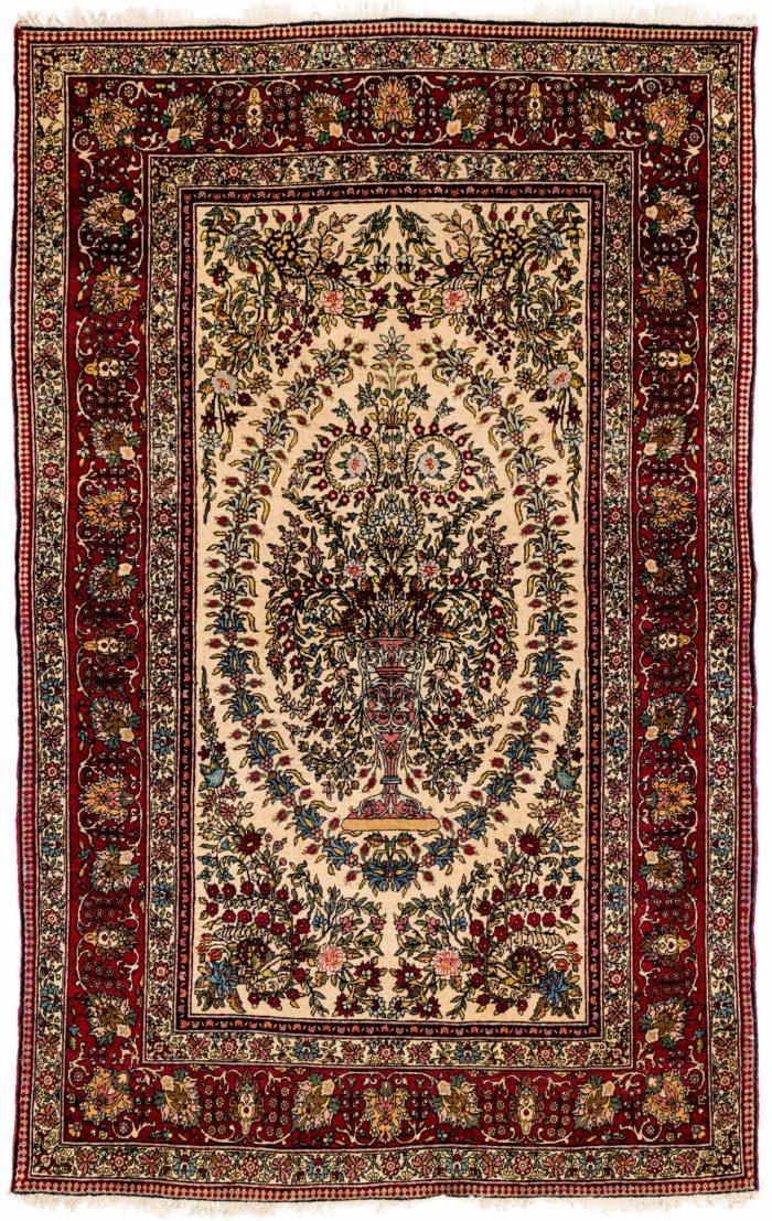 "Semi-Antique Persian Teheran 4'6""×6'11"""