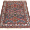 "Semi-Antique Persian Wool Shiraz Rug 4'6""×6'6"""
