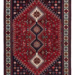 "Semi-Antique Persian Yalameh 3'5""×4'10"""