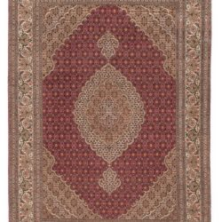 "Semi-Antique Tabriz Rug 4'10""×7'0"""