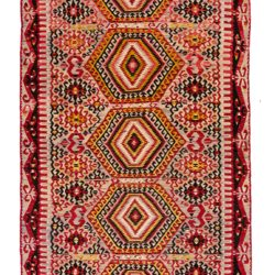 "Semi-Antique Turkish Kilim 5'11""×11'1"""