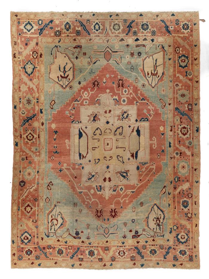 """Semi-Antique Turkish Oushak 9'10""""×13'4"""""""