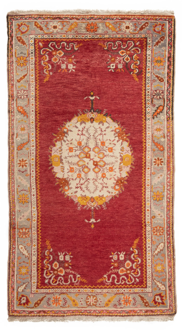 "Semi-Antique Turkish Rug 3'8""×6'8"""