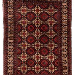 """Semi-Antique Turkmenistan Turkman Rug 4'10""""×6'8"""""""