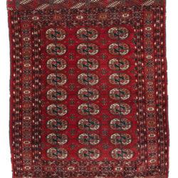 "Semi-Antique Turkoman Bokhara 4'0""×5'0"""