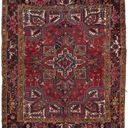 "Semi-Antique Wool Heriz Rug 7'9""×8'9"""