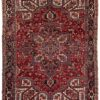"Semi-Antique Wool Heriz Rug with Medallion 8'2""×11'3"""