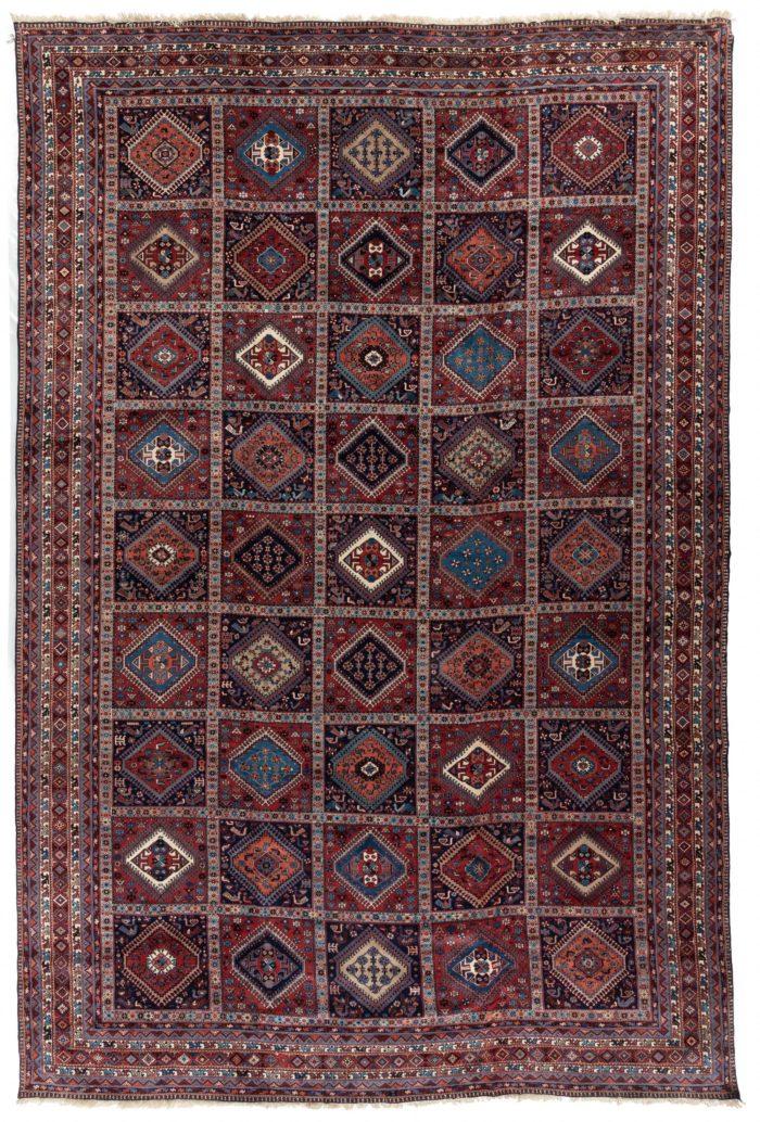 "Semi-Antique Yalameh Rug 12'0""×18'1"""