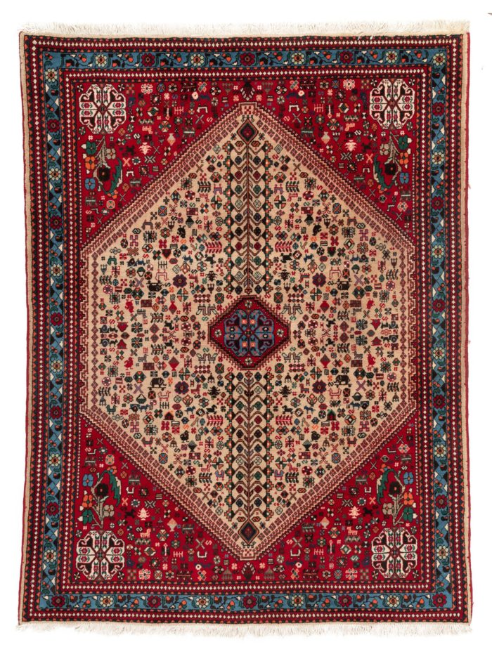 "Semi-antique Persian Abaden 5'1""×6'10"""