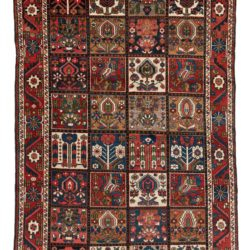 "Semi-antique Persian Bactiari 5'2""×10'2"""