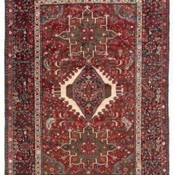 "Semi-antique Persian Karadja 4'11""×6'6"""