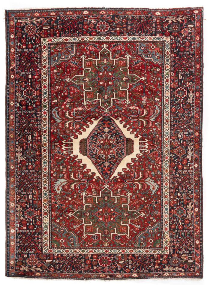 "Semi-antique Persian Karadja 4'11""×6'6"""