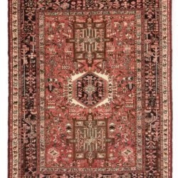 "Semi-antique Persian Karadja 5'0""×6'4"""