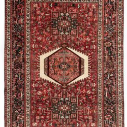 "Semi-antique Persian Karadja 4'11""×6'9"""